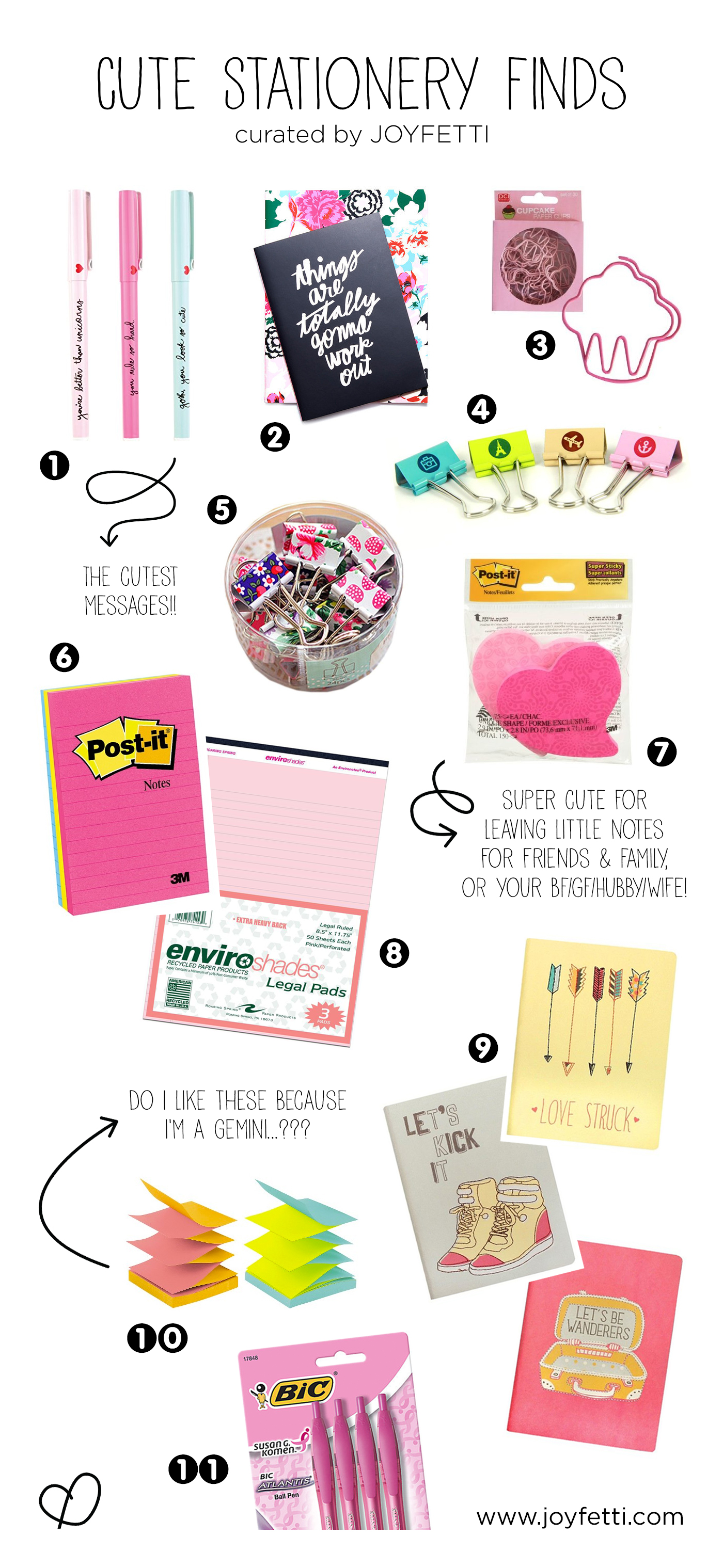 Cute stationery finds on joyfetti.com, #JOYFETTI