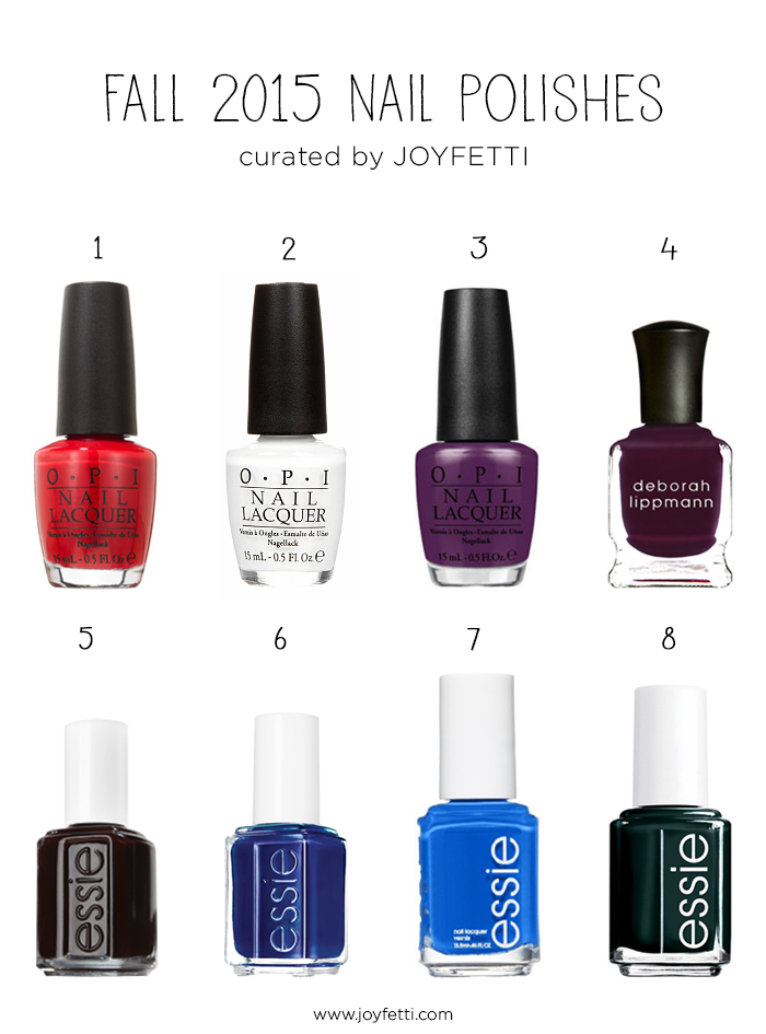 Fall 2015 Nail Polishes on joyfetti.com