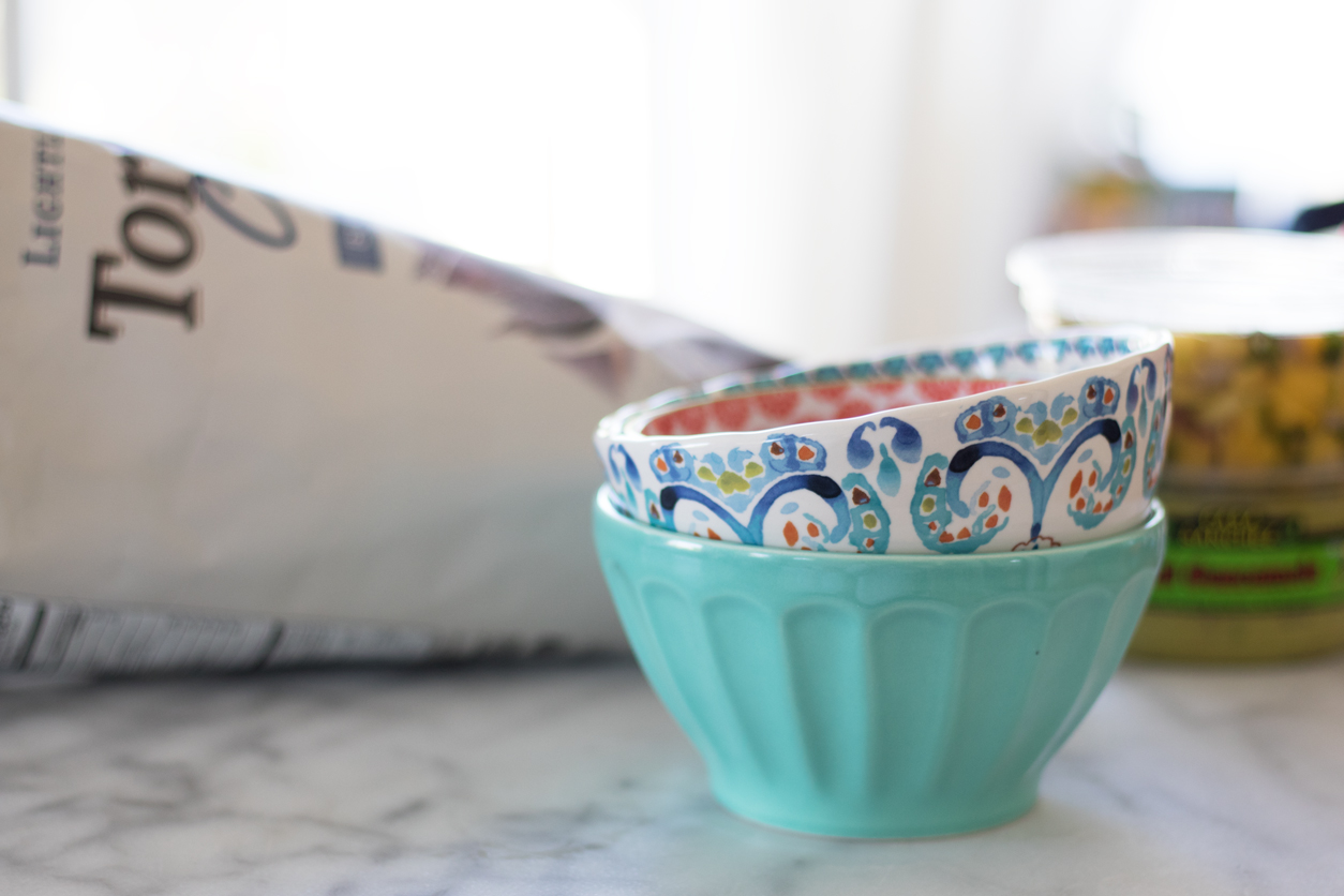 Favorite store bought guacamole for National Tortilla Chip Day_joyfetti.com_Cute bowls from Anthropologie