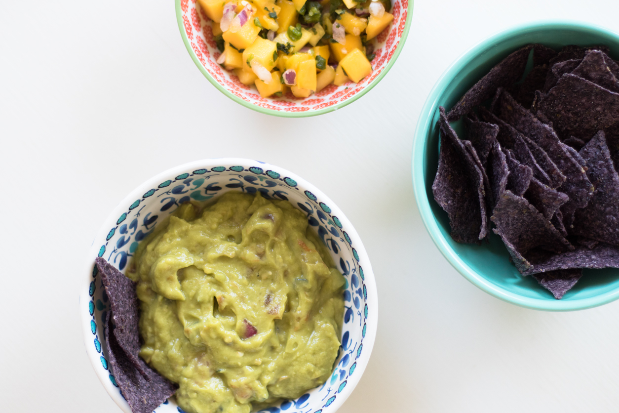 Favorite store bought guacamole for National Tortilla Chip Day_joyfetti.com_Flat lay