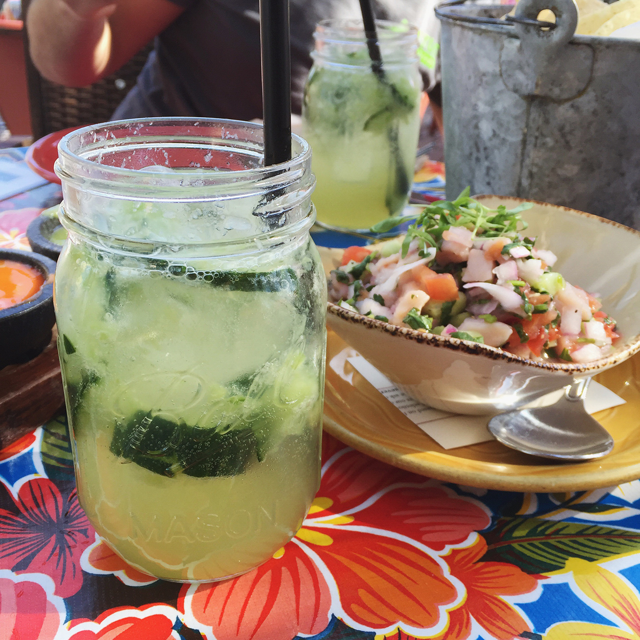 Spicy margarita and ceviche, yum_joyfetti.com