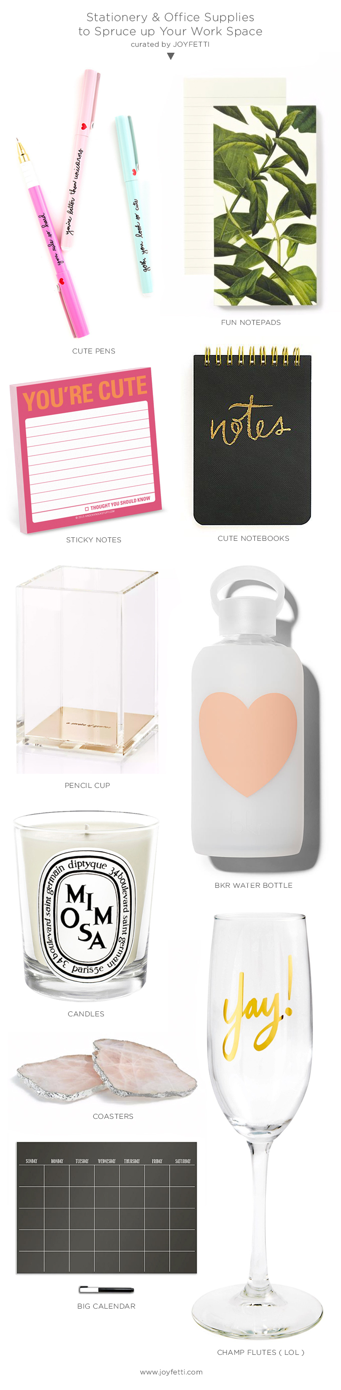 Stationery & Office Supplies to Spruce up Your Work Space_joyfetti.com