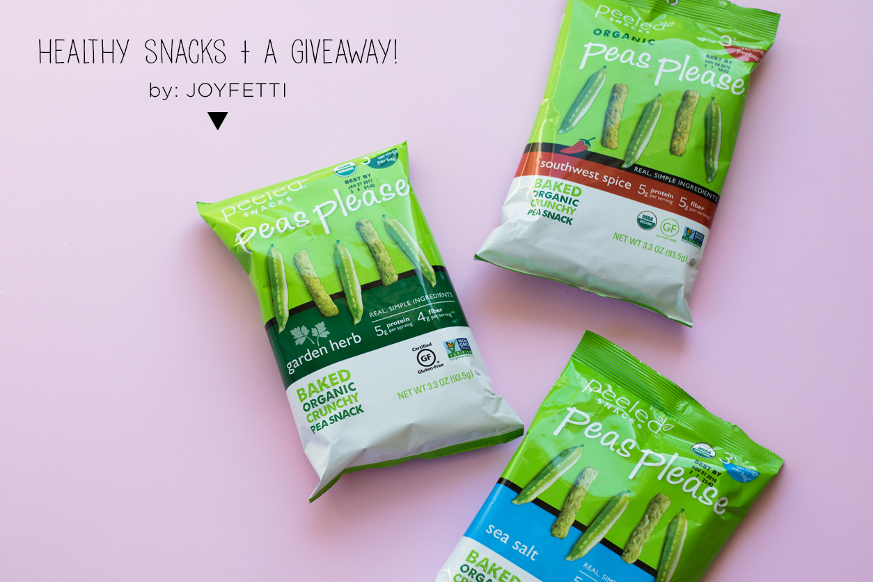 Healthy snacks and a giveaway_peas please bags_joyfetti.com