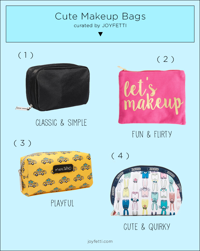 Cute makeup bags, joyfetti.com